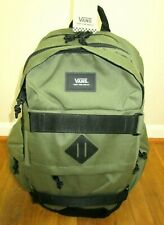 Vans Planned Pack 2 Skate Backpack Green Black Straps Unisex Free Ship NWT