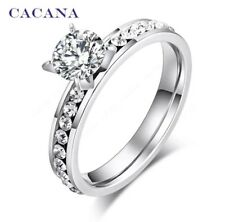 Silver Ring Ladies Fashion Costume Jewellery Silver Cubic Zirconia UK Gift Pando