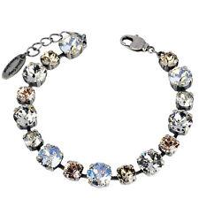Grevenkämper Armband Swarovski Kristall Tennis klar Crystal Silk Silver Shade