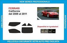 pellicole oscuranti vetri Ferrari California dal 2009-2011 kit completo