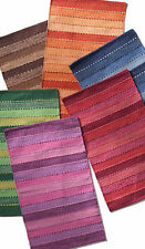 Natural Fibres Striped 100% Cotton Rugs