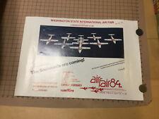 original AIRSHOW POSTER -AIR FAIR 1984 -WASHINGTON STATE INTERNATIONAL snowbirds