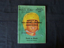 rare 1951 Oklahoma All-Star Sports Carnival program North vs. South, top players