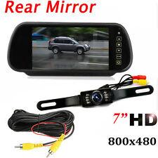 "Car 7"" Back up Mirror Monitor With IR Night Vision Rear View Camera Reversing"