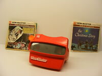 vintage RED VIEWMASTER 3D VIEWER with 2 Complete Sets Christmas / Birth of Jesus