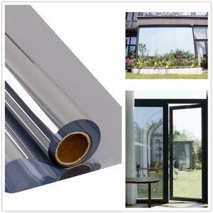 Mirror Window Film Silver Reflective Solar Tint Home Office Glass Decor Anti-UV