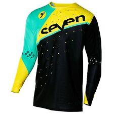 Seven MX Zero Omni Jersey, Black/Yellow, 2X-Large, Non-Vented
