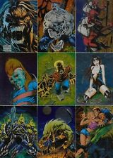 PITT 1995 INTREPID ASHCAN CHARACTERS EMBOSSED FOIL INSERT CARD SET C1 TO C9 MC
