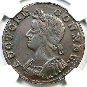 1786 5.4-G R-2 NGC XF 40 Connecticut Colonial Copper Coin