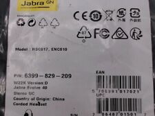 Jabra Computer Headsets With Microphone Mute Button For Sale In Stock Ebay
