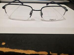 NEW FLEXON Eyeglasses MELVILLE 600 412 NAVY 53/18/140 PERFECT AUTHENTIC