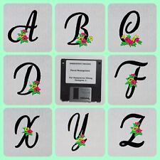 Floral Monograms Embroidery Designs Floppy Disk for Husqvarna Viking  Designer 1