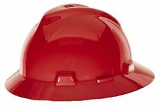 MSA Safety 454736 Red V-Gard Protective Hat w/ Staz-On Suspension
