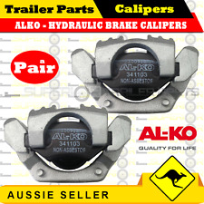 2 x ALKO HYDRAULIC BRAKE CALIPERS - DACROMET COATED - BOAT TRAILER CARAVAN