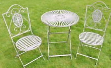 Metal Garden Bistro Set Finished in Antique Grey Garden Table for home, handmade