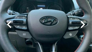 🚀 Lenkrad Logo Hyundai i30N Emblem Cover Tucson i20N Performance schwarz Tuning