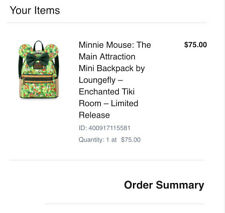 Disney Minnie Mouse Main Attraction Tiki Room Loungefly Backpack CONFIRMED
