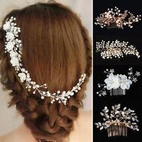 Women Bridal Headwear Wedding Jewelry Hair Comb Clip Barrette Accessory Gift