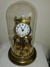 JUF Anniversary Clock in Glass Dome, Very Good Condition & Working Order.