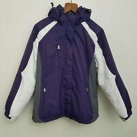 Below Zero Rothschild Girls Coat Large Purple Gray 2 Piece Removable Liner
