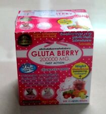 6 X Gluta Berry 200000 mg Drink PUNCH Reduce freckles Whitening Skin + Track