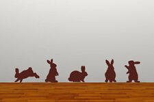 Rabbits Bunnies Wall Art Sticker Brown Decal Decor Boys Girls Vinyl Graphic Baby