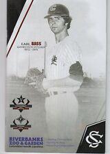 Earl Bass South Carolina Gamecock All Time Great Jersey Retirement Program &Card
