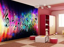 Photo Wallpaper Music Wave GIANT WALL DECOR PAPER POSTER FOR BEDROOM