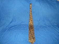 Disney Necktie Tie gold color with mickey, minnie, goofy, donald, & Pluto heads