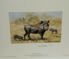 David shepherd limited edition warthog family