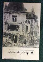 CPA. SAMPIGNY. 55 - Château de Poincaré. Résidence d'été après un bombardement.