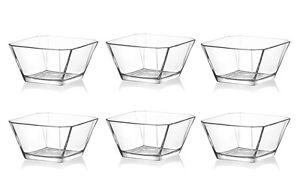 6x Karen salad snack cereal dessert ice cream side glass Bowls 300ml