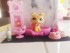 💖Littlest Pet Shop LPS Rare Collie Dog #1194 Blonde Yellow With Purple Eyes💖