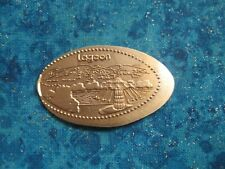 Lagoon Copper Elongated Penny Pressed Smashed 16