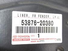 Genuine OEM Toyota 53876-20380 Driver Front Fender Liner 2000-2005 Celica