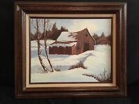 Vintage 1983 Oil On Canvas Signed By D. Moore