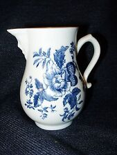 Vintage Royal Worcester Blue Sprays Repro White Bone China Mask Creamer 1959 EUC
