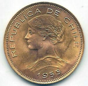 Chile 100 pesos o 10 Condores oro 1955  @ Sin Circular @