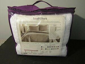 Southshore Fine Linens Vilano Springs Premium Oversized Full/Queen Quilt Set 3PC