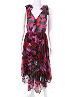 The Kooples Womens Sleeveless Floral Asymmetric Robe Dress Size 2 11301343