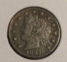 "^ 1887 Liberty ""V"" Nickel       ^^ VERY FINE ^^    131 YRS OLD   3030"