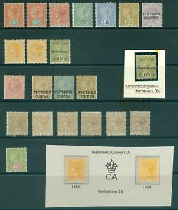 Early Ceylon mint selection on stock card. Condition mixed