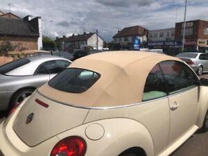 VW Beetle 2002-2010 - New Light Oak Mohair Hood with Heated Glass Window
