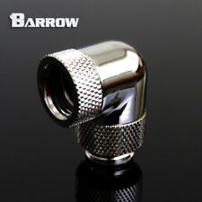 "Barrow G1/4"" Silver 90 Degree Double Rotary Fitting Water Cooling - 002"