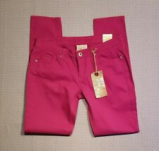 Red Camel NEW Skinny Super Stretch Denim Jeans Ava Fit Low Rise Fuchsia Pink 9