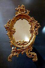 Oval Mirror - Cast Iron - Gold Acanthus Leaf - Antique