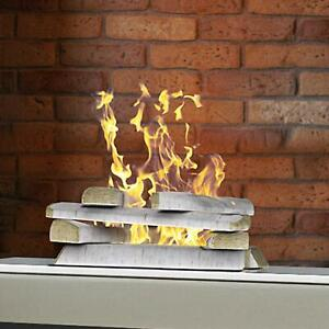 Regal Flame 10 Piece Set Of Birch Ceramic Wood Medium Gas Fireplace Logs - Birch