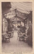 CPA 50 Manche CHERBOURG Rue de la Paix HOTEL DU NORD Le Hall et les Jardins 1946