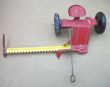 Antique Vintage Marx Tin Farm Tractor Yellow Mower Nice Condition