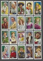 1939 Stephen Mitchell Stars of Screen & History Tobacco Cards Complete Set of 25